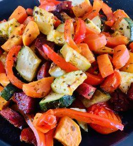 Geroosterde groente met chorizo