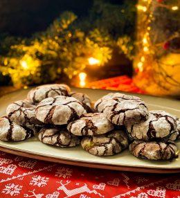 Brownie Snow Cookies