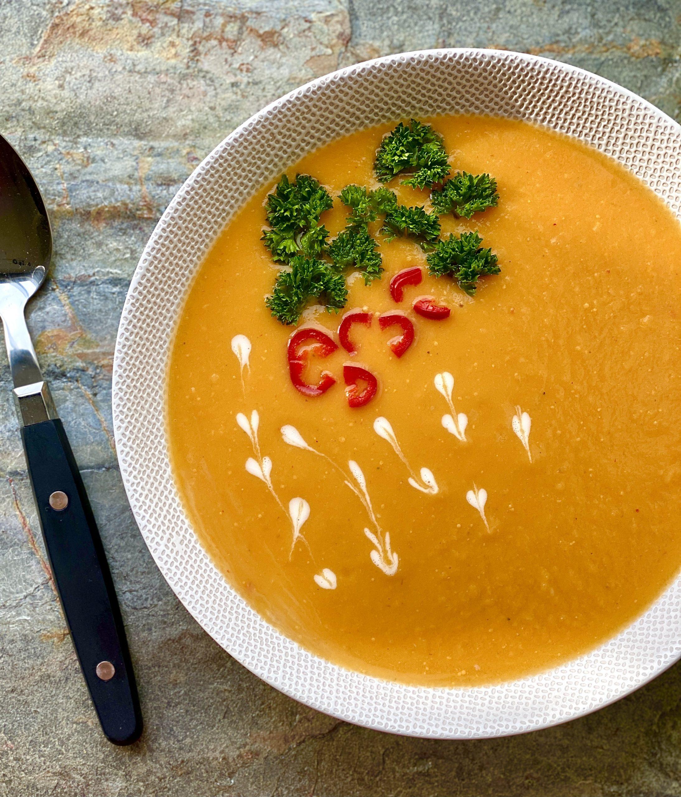 zoete Thaise aardappel soep